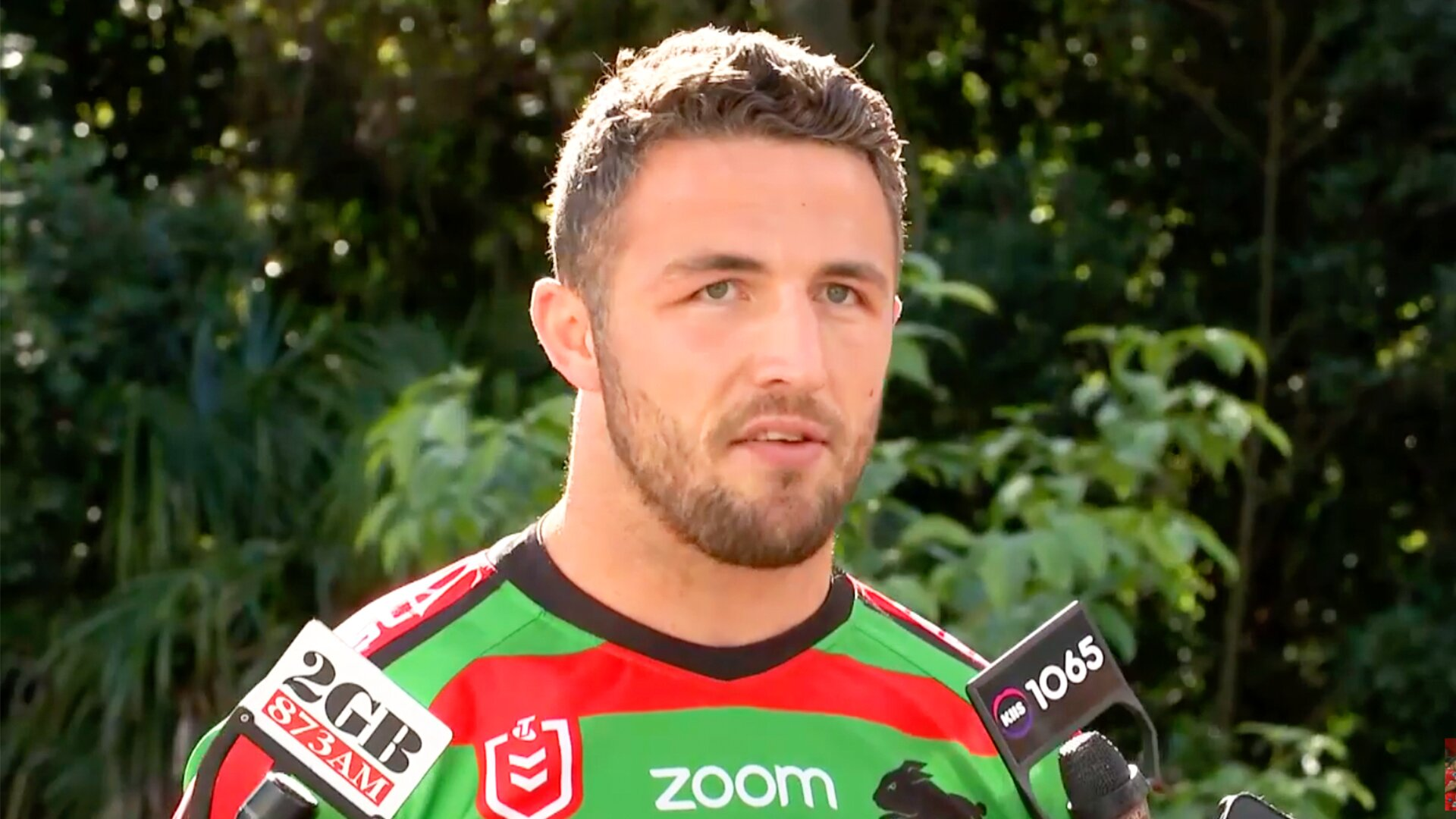 Sam Burgess loses it in feisty altercation with Australian journalist