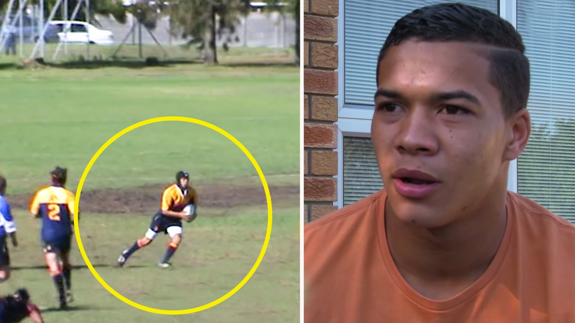 Rare footage of Baby Bok Cheslin Kolbe outlining his dream to play for South Africa