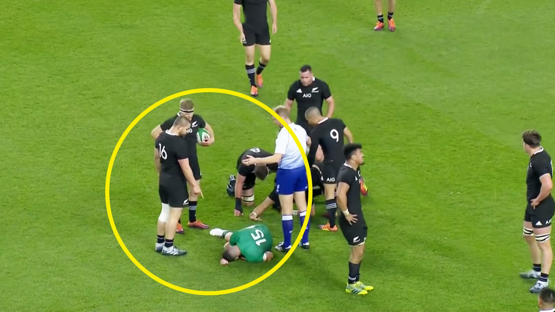 Ref mic picks up Dane Coles foul mouthed verbal tirade on an injured Rob Kearney