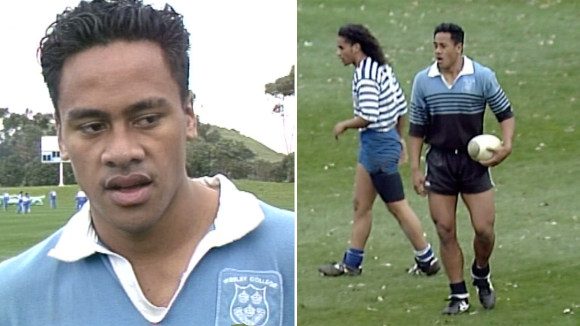 Jonah Lomu's destructive schoolboy highlights have just been made public for the first time