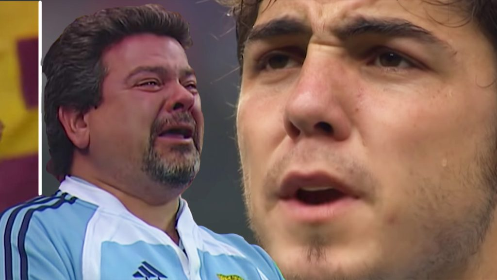 New video shows whole of Argentina team reduced to tears in fierce anthem before famous win