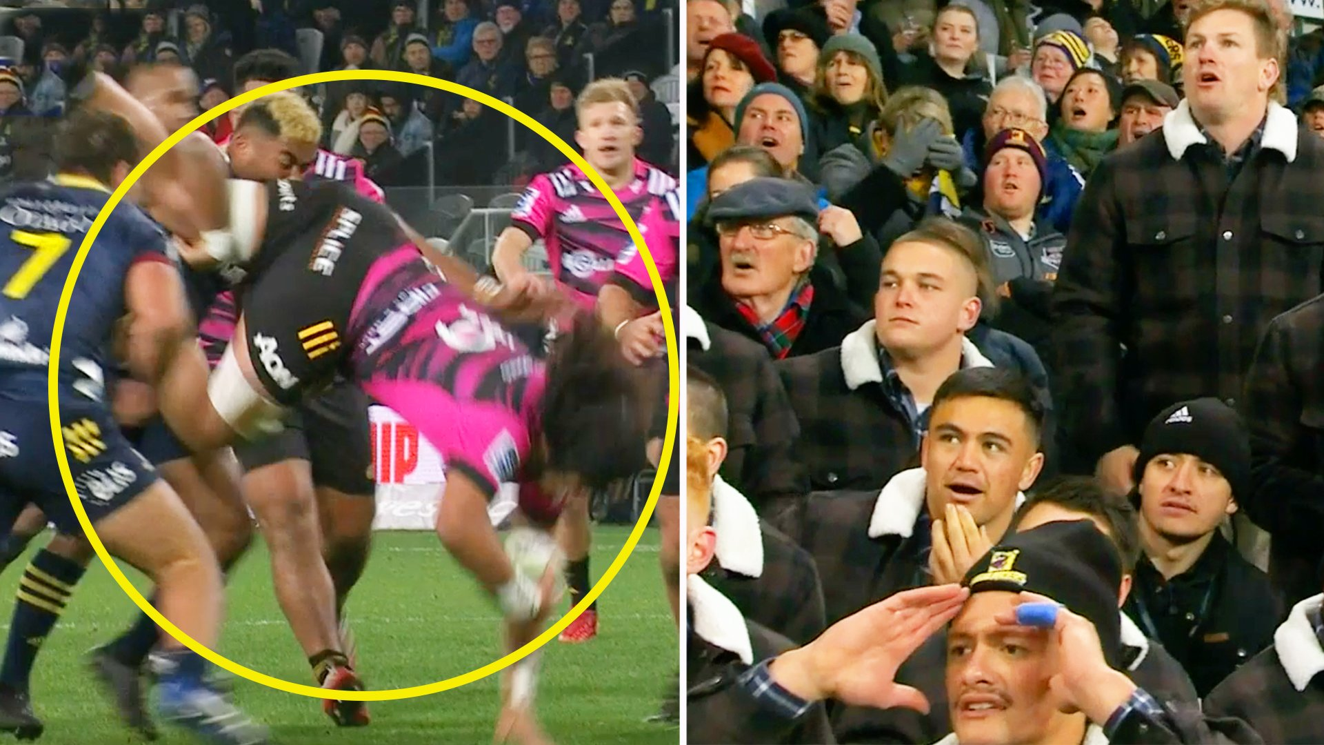 Packed out NZ crowd rocked by shocking piece of foul play in Super Rugby opener