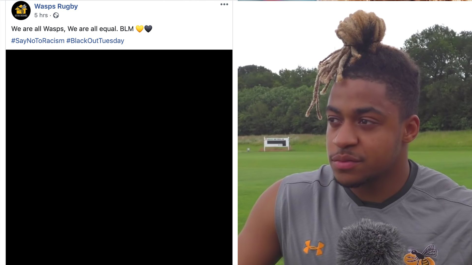 Wasps players get into nasty argument with fan over club's decision to partake in Blackout Tuesday
