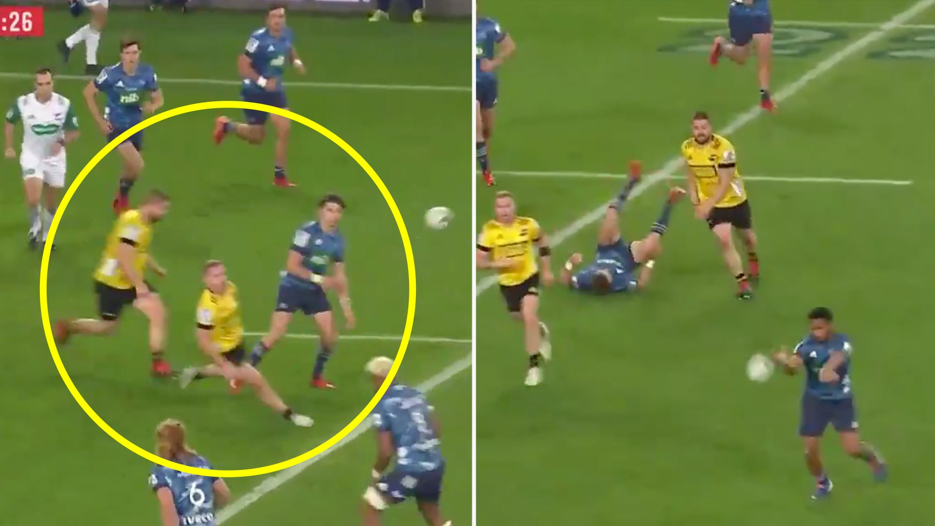 Not many people saw the horrendous grub hit that Dane Coles made on his former teammate Beauden Barrett