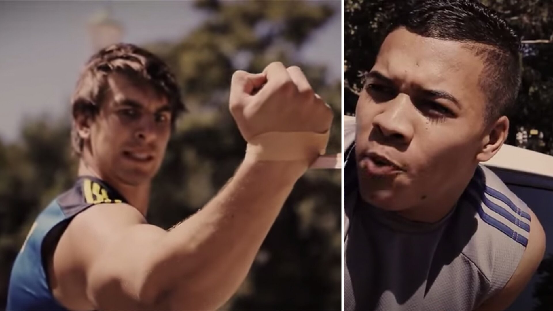 Eben Etzebeth and Cheslin Kolbe star in cringeworthy ad for strapping company