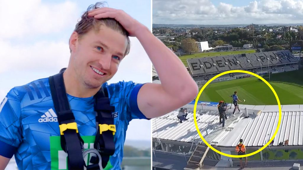 The Blues get Beauden Barrett to do ridiculous PR stunt on eve of Super Rugby beginning