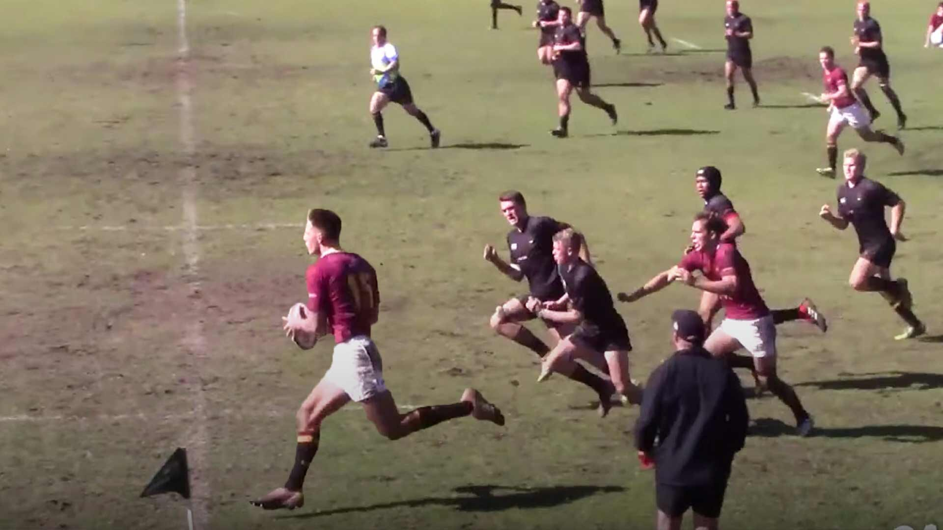 Rugby fans are stunned at the freakish speed of South African rugby schoolboy in new video