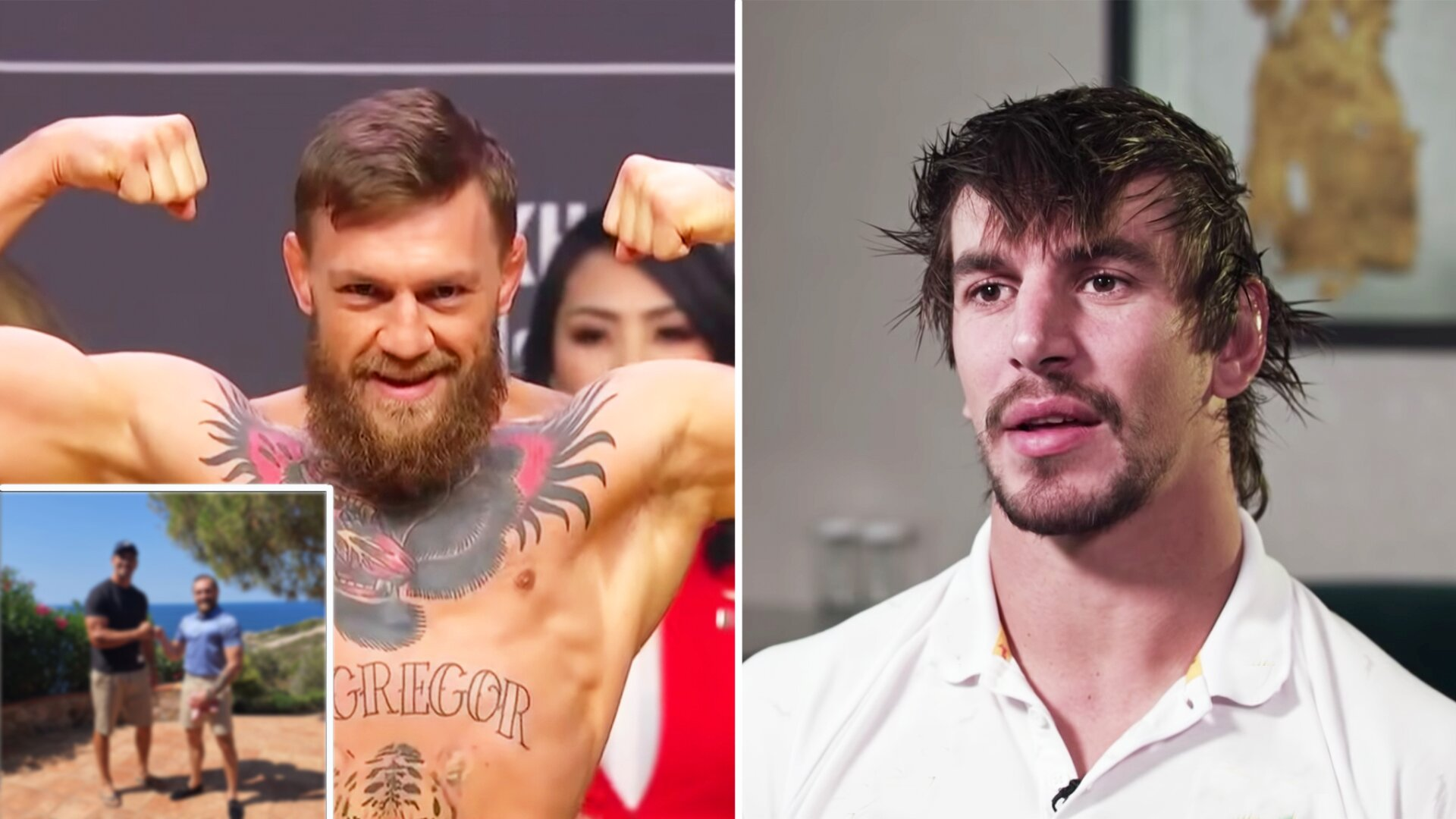 Fans call for 'fight of the century' as picture emerges of Eben Etzebeth and Conor McGregor together