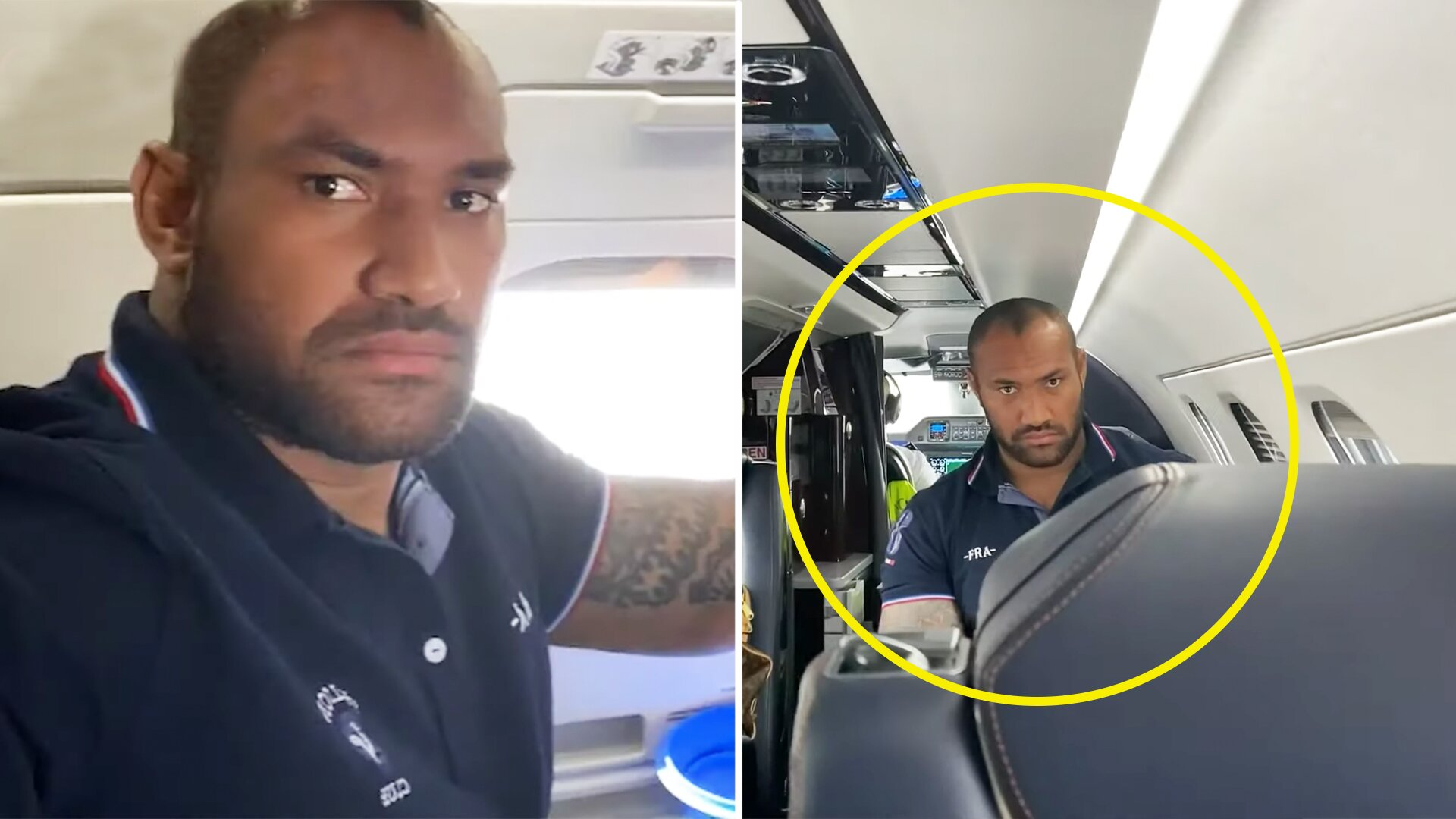 New video shows Nemani Nadolo's flight from hell as he travels to England for move to Leicester Tigers