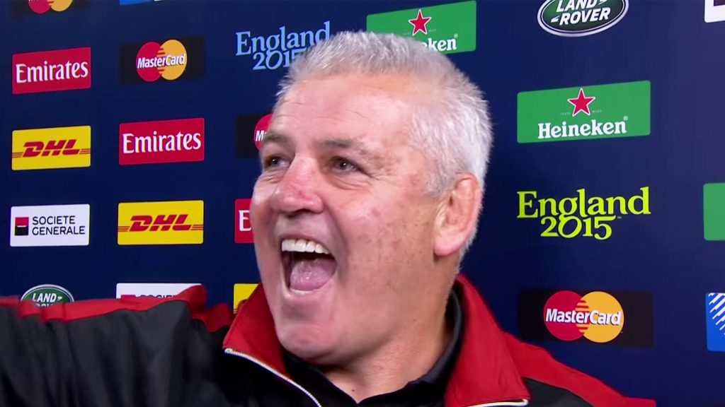 Warren Gatland after beating England at the 2015 Rugby World Cup
