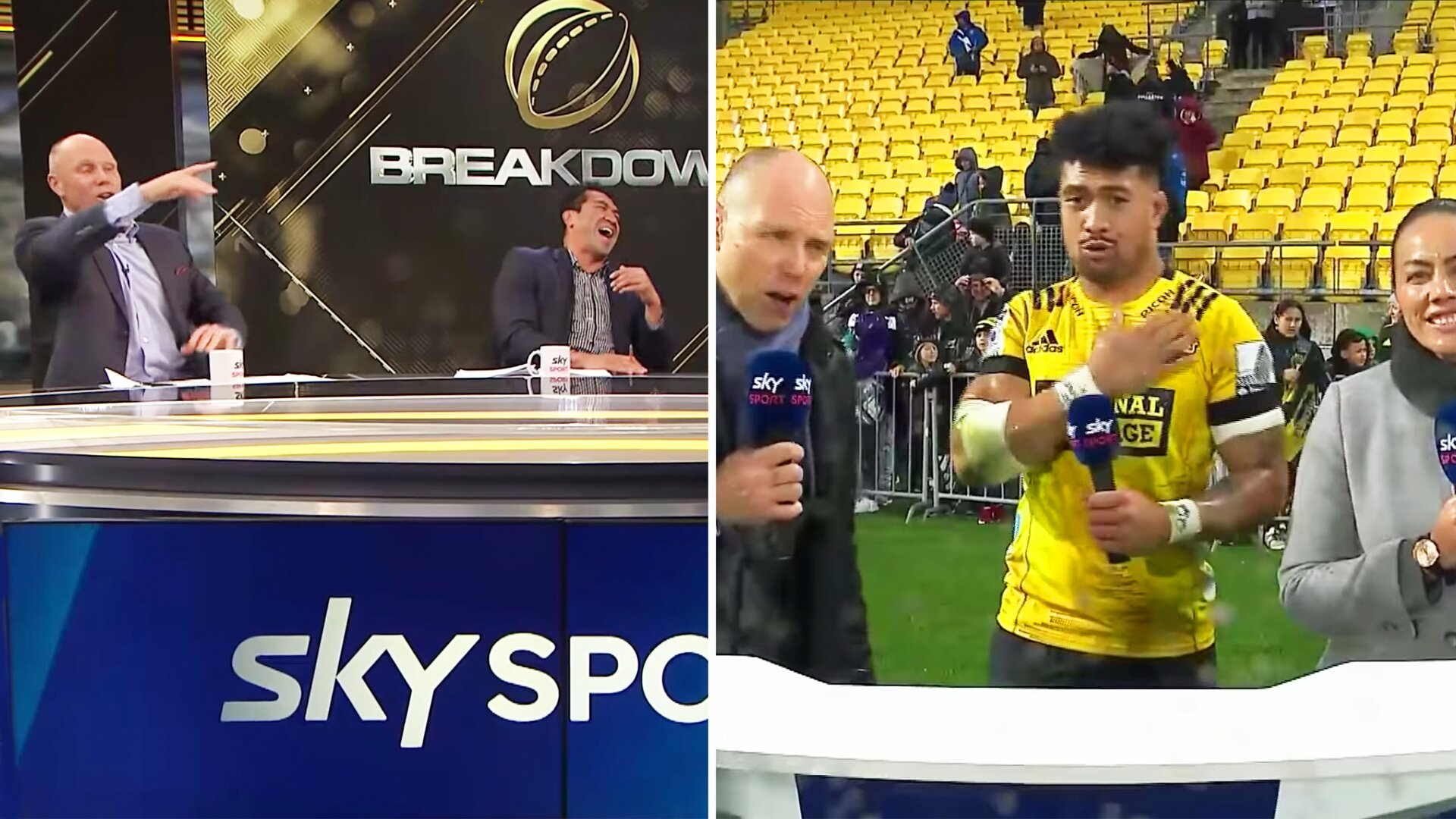 The Breakdown pundits react to THAT Ardie Savea gaffe last weekend
