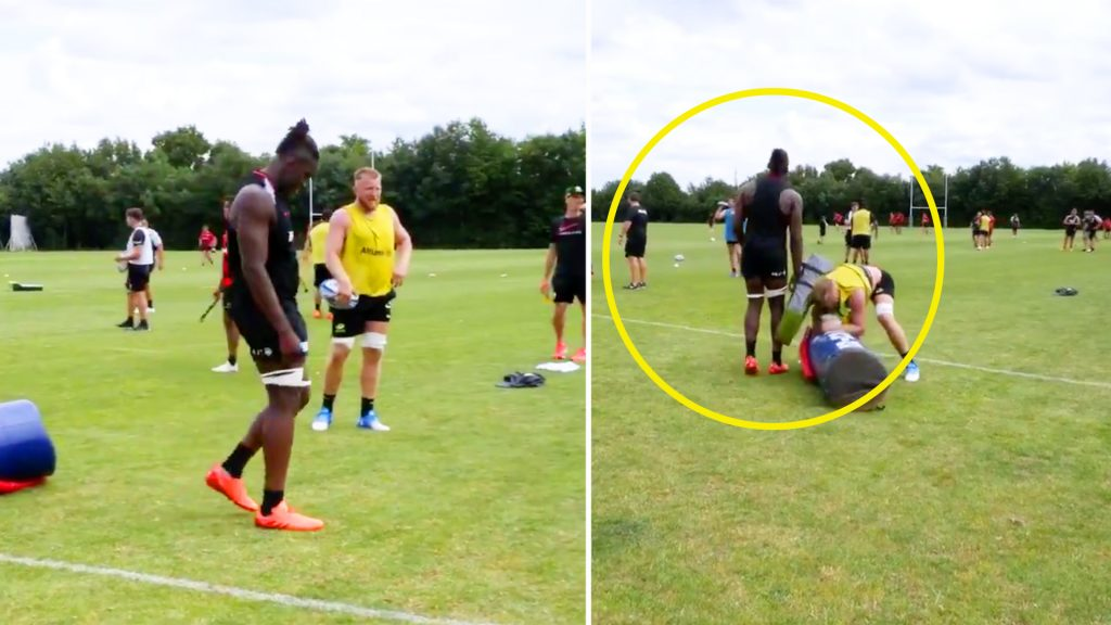 New footage of Maro Itoje in training has Saracens fans worried