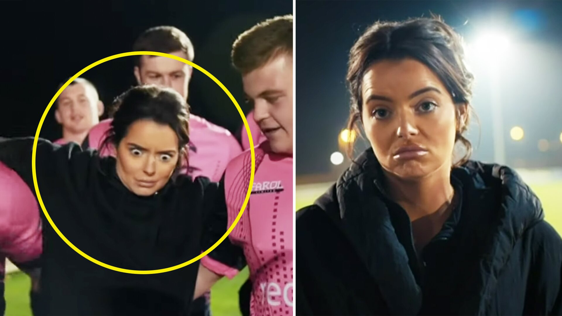 New video shows Love Island star Maura Higgins playing rugby for first time
