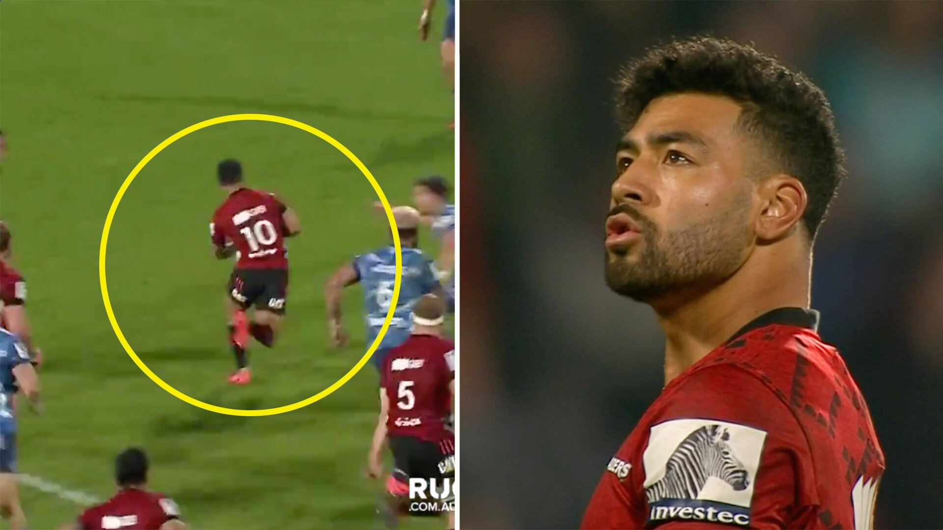 Richie Mo'unga single handedly took apart the Blues today in game changing performance for the Crusaders