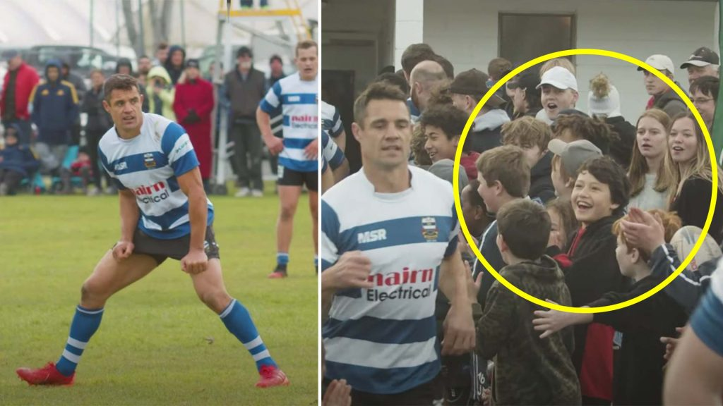 New video shows the incredible impact that Dan Carter had playing just one game for an amateur rugby club