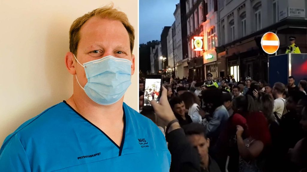 Rugby player who helped the NHS  has a message for the people that went out in England last night