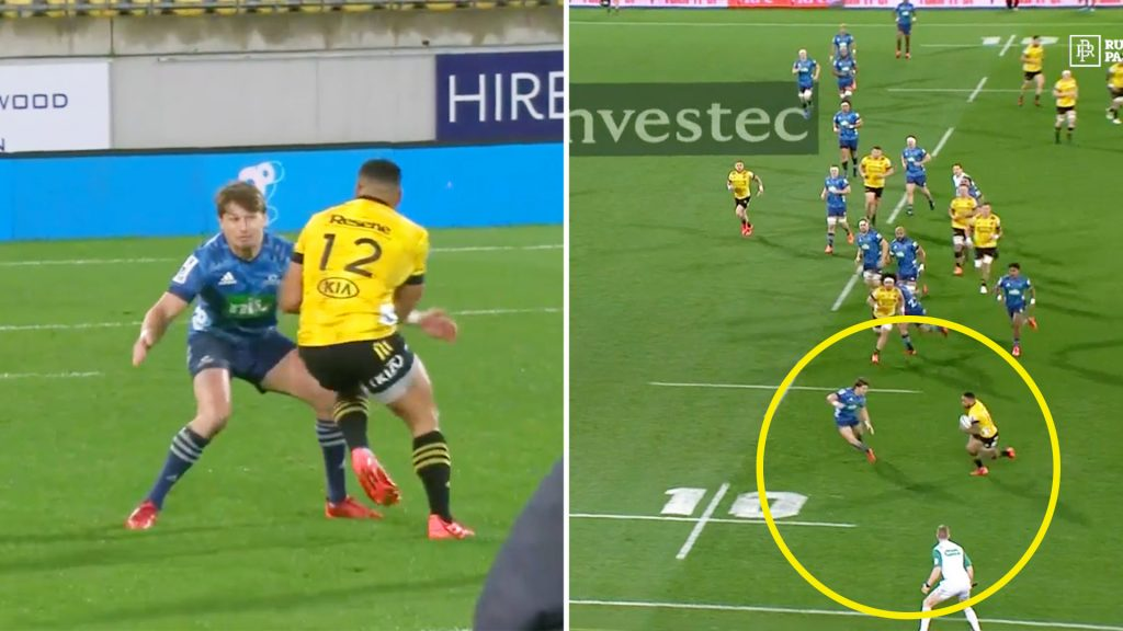 Ngani Laumape terrorises Beauden Barrett for forty minutes in Super Rugby clash
