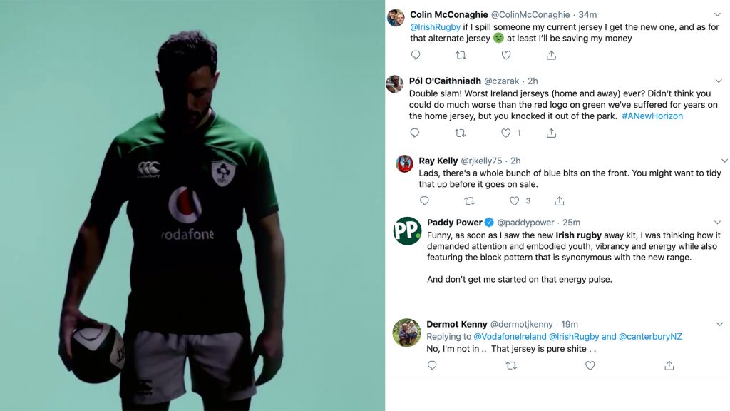 Canterbury are getting destroyed online for their new Irish rugby kit reveal