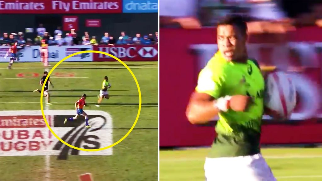 Cheslin Kolbe is stunned by the phenomenal speed of rugby referee