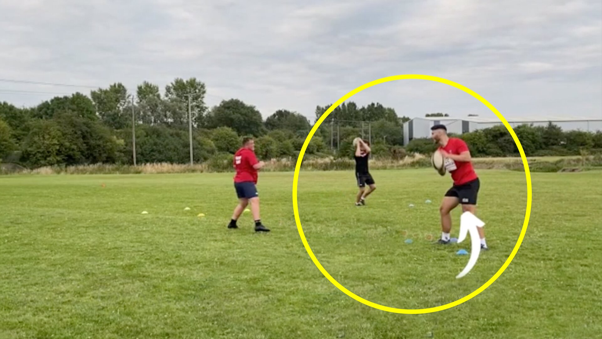 Someone has worked out an ingenious socially distanced training session which every team should use