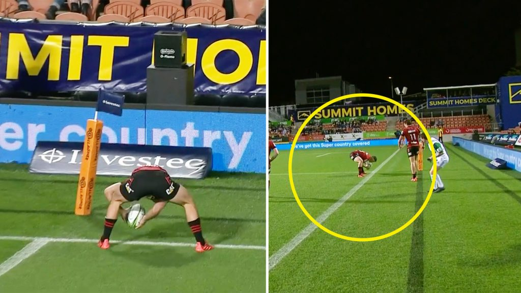 Hamilton crowd stunned after this bizarre moment from Will Jordan in today's Super Rugby clash