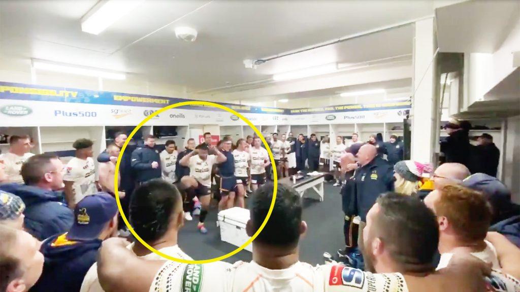 Brumbies dressing room descends into bedlam in wild post match celebrations