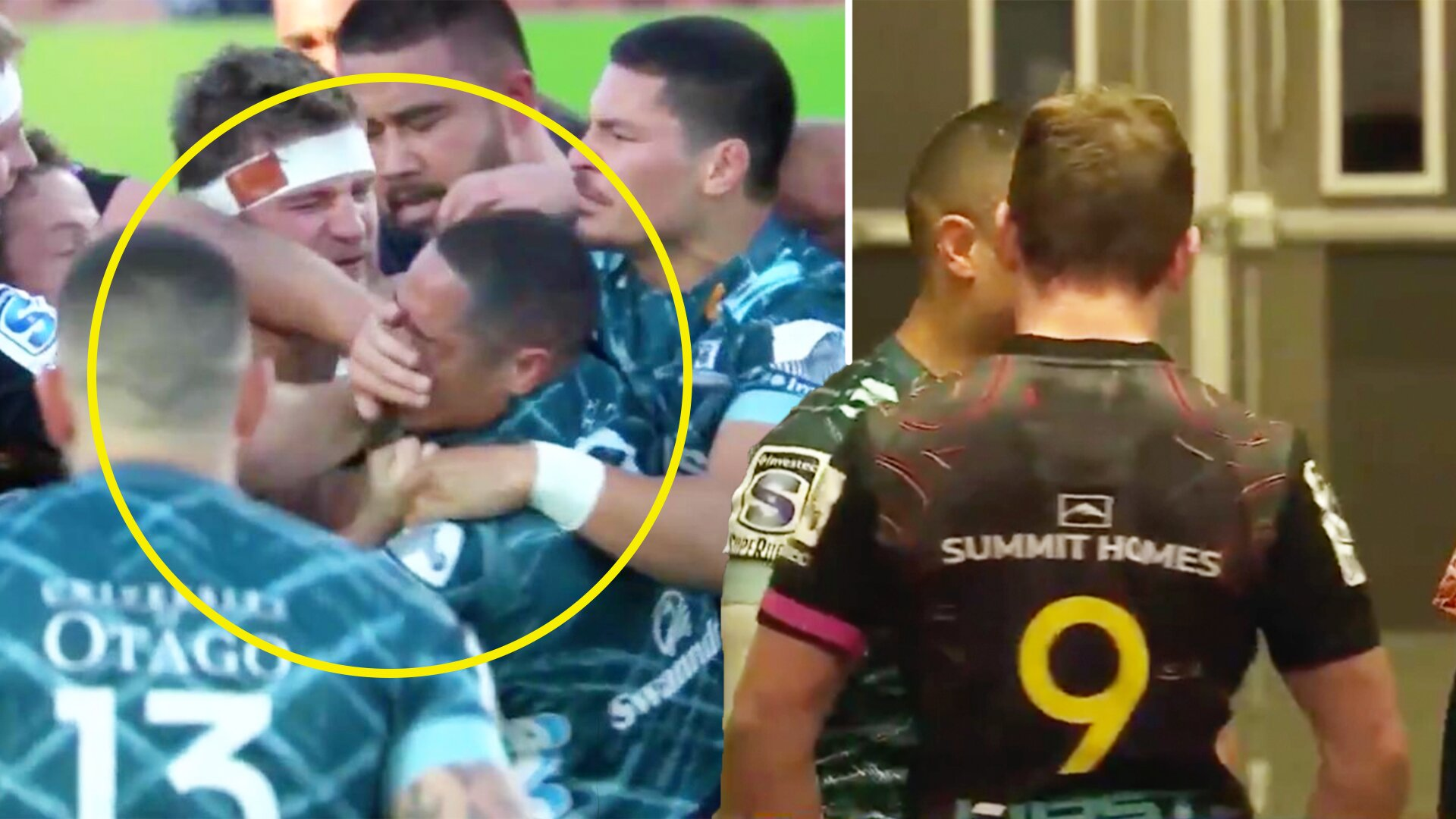 Aaron Smith and Brad Weber's Super Rugby fight spills over into tunnel after the match
