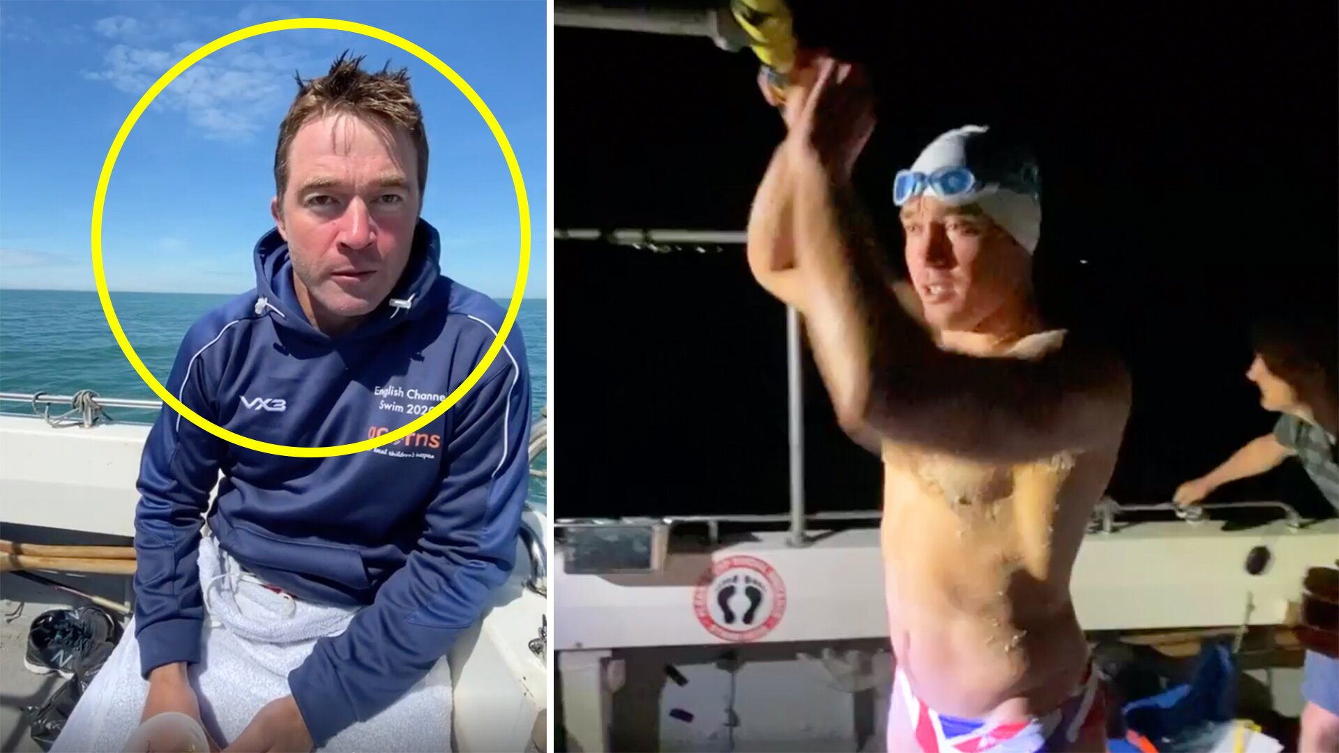 Rugby player reveals horror channel swim in disturbing new video