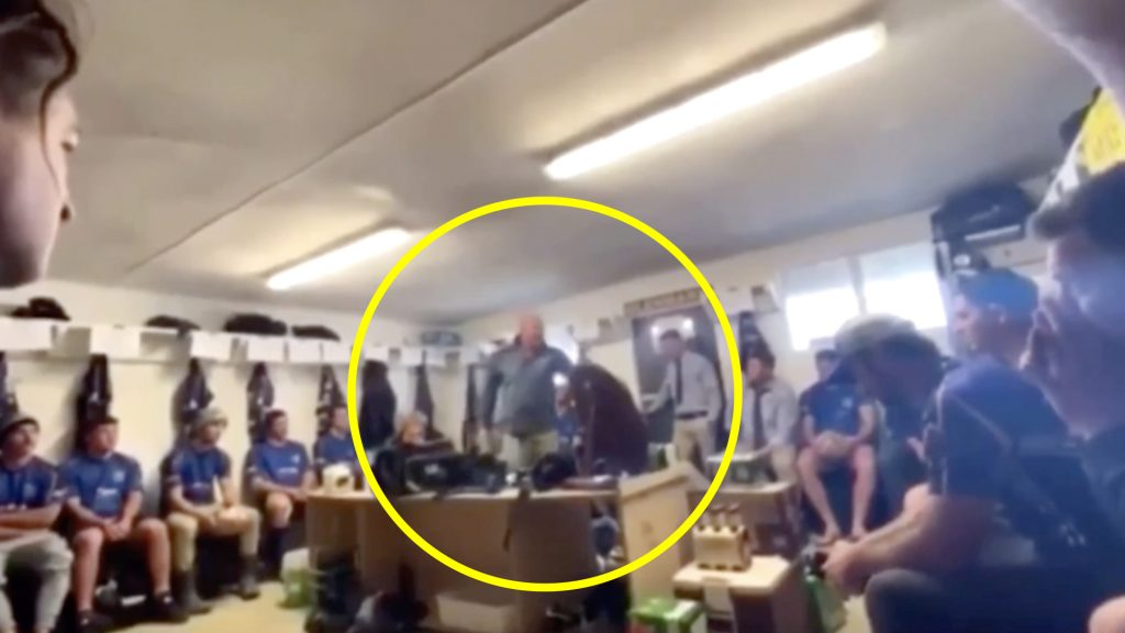 Passionate rugby coach's secretly recorded pre match team talk is going viral online