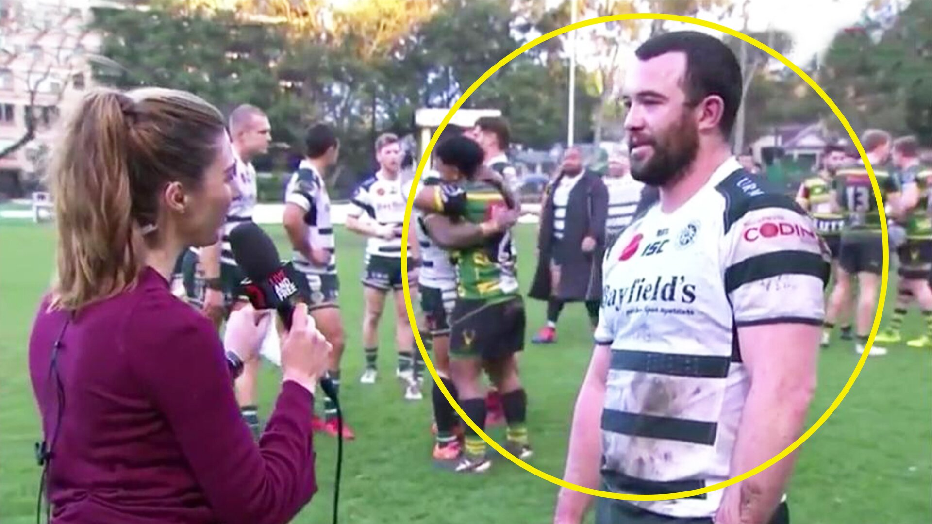 Frustrated rugby player accidentally gives best post match interview of all time