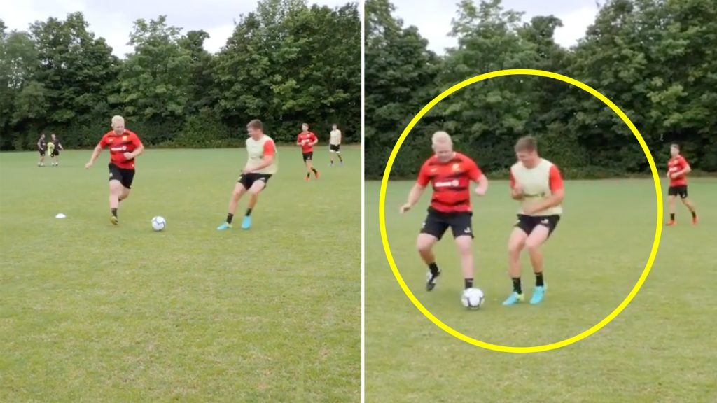 Fans despair as new footage appears to show that Farrell has kept his infamous shoulderboy trait