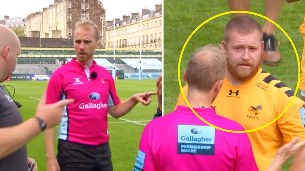 Wayne Barnes lauded for his handling of bizarre episode in today's Premiership rugby clash