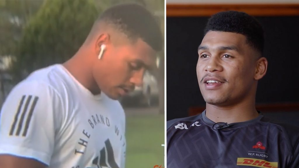 Fan unexpectedly stumbles across Springbok prodigy as he undergoes gruelling solo training