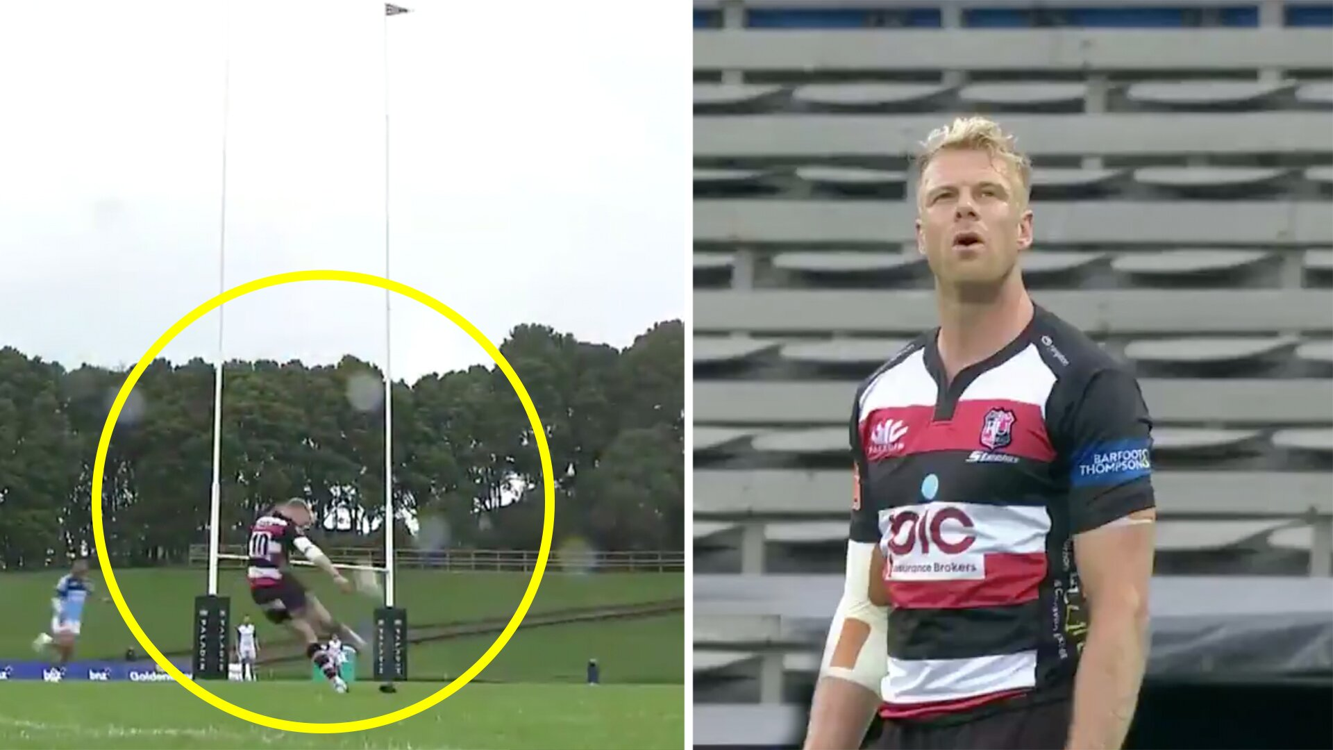 Mitre 10 player stuns fans with this bizarre moment after a kick attempt