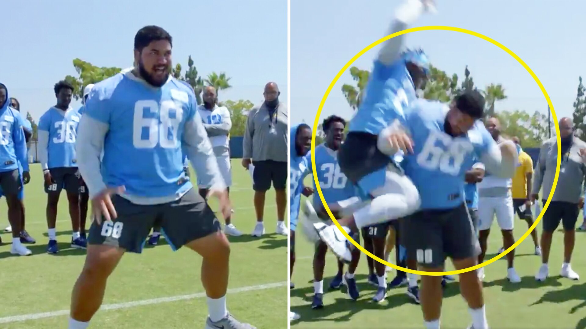 NFL player's Kamate Haka is probably even better than the All Blacks one