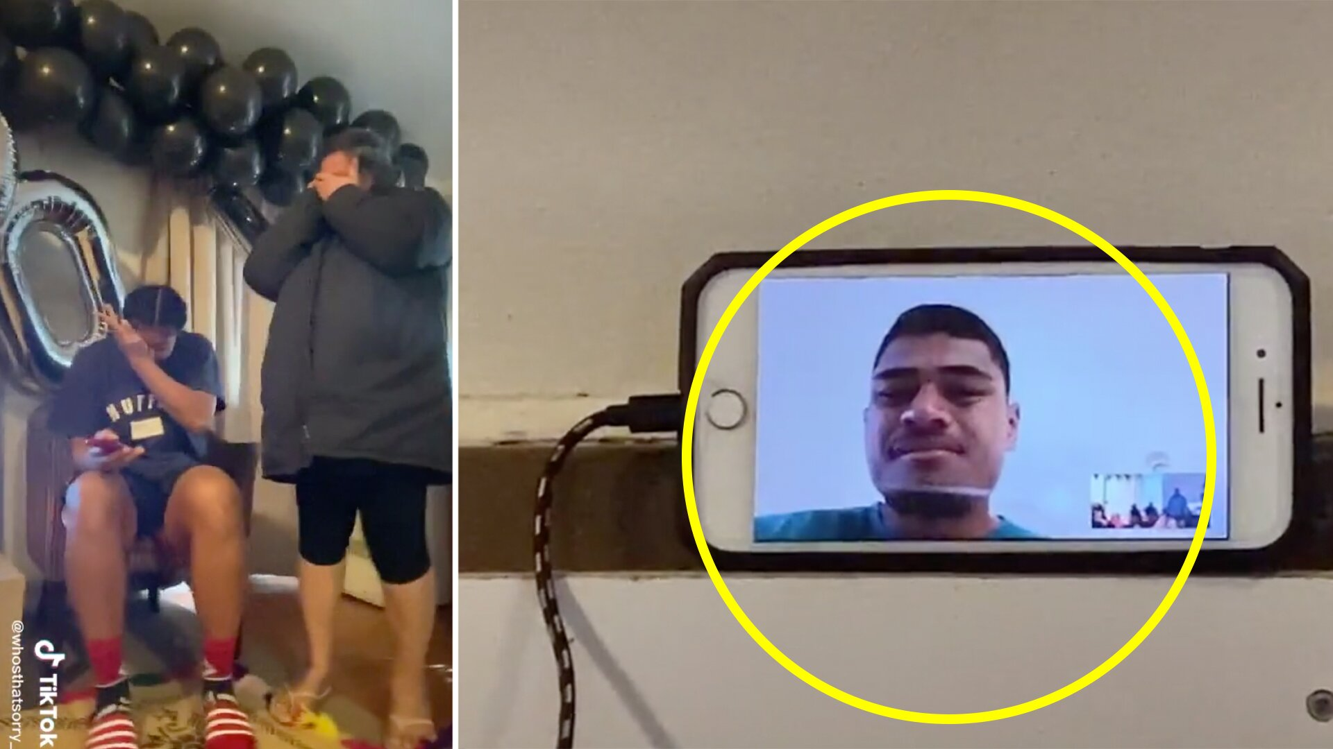 Videos shows stunning moment when Tupou Vaa'i tells his family he has become an All Black player