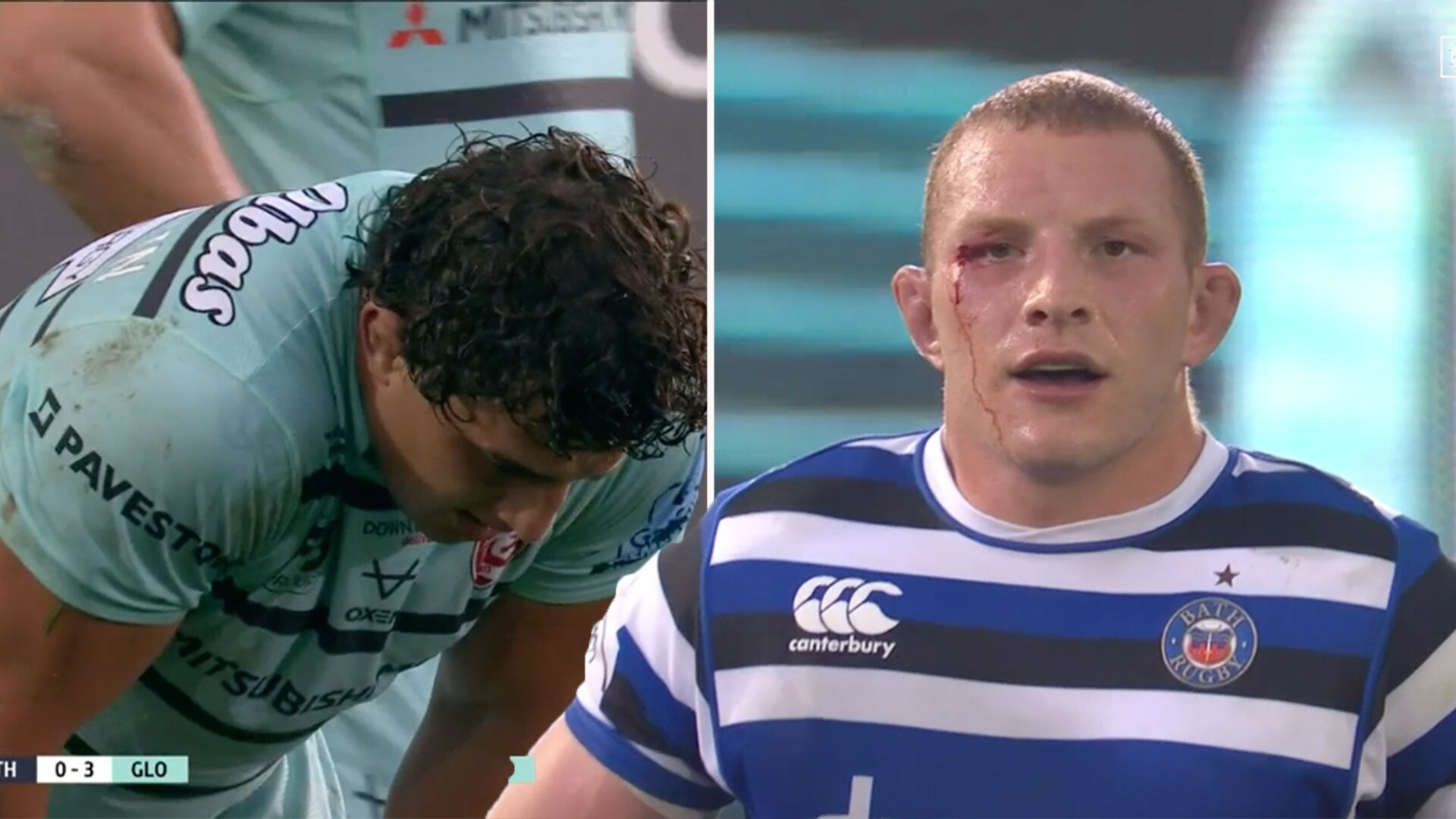 Sam Underhill nearly injures player with perfect legal war hit