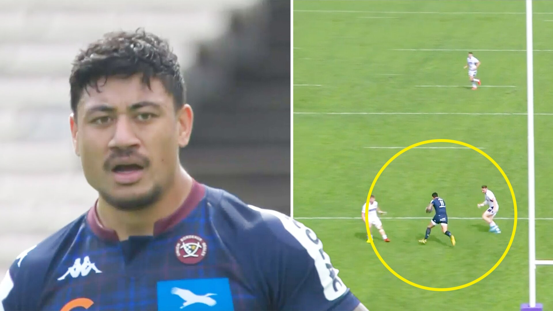 Bordeux winger Ben Lam terrorises Edinburgh defence with Lomu'esque 80m rampage