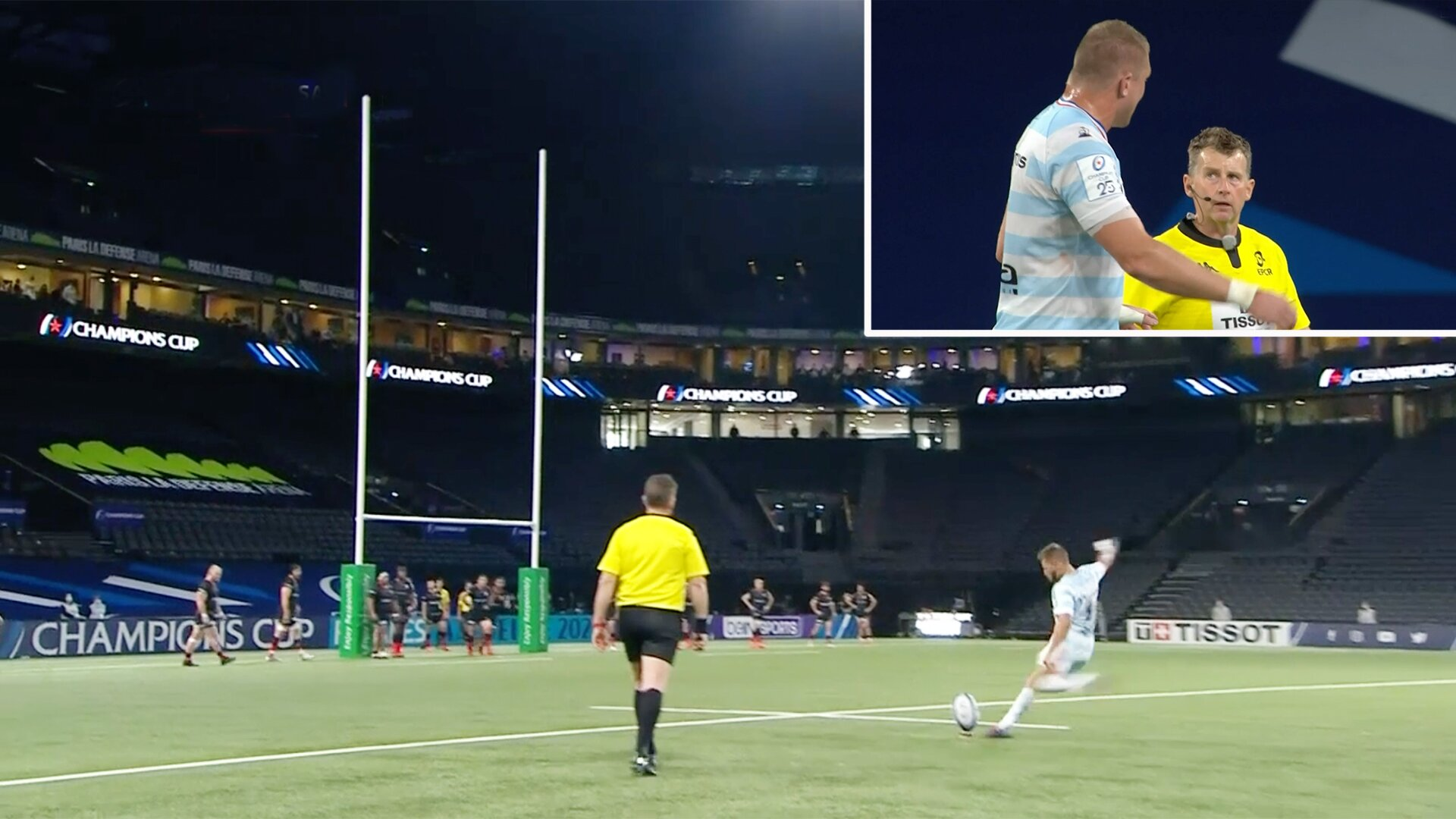Utter confusion as Racing 92 are awarded 'ghost penalty' to take lead in Champions Cup clash