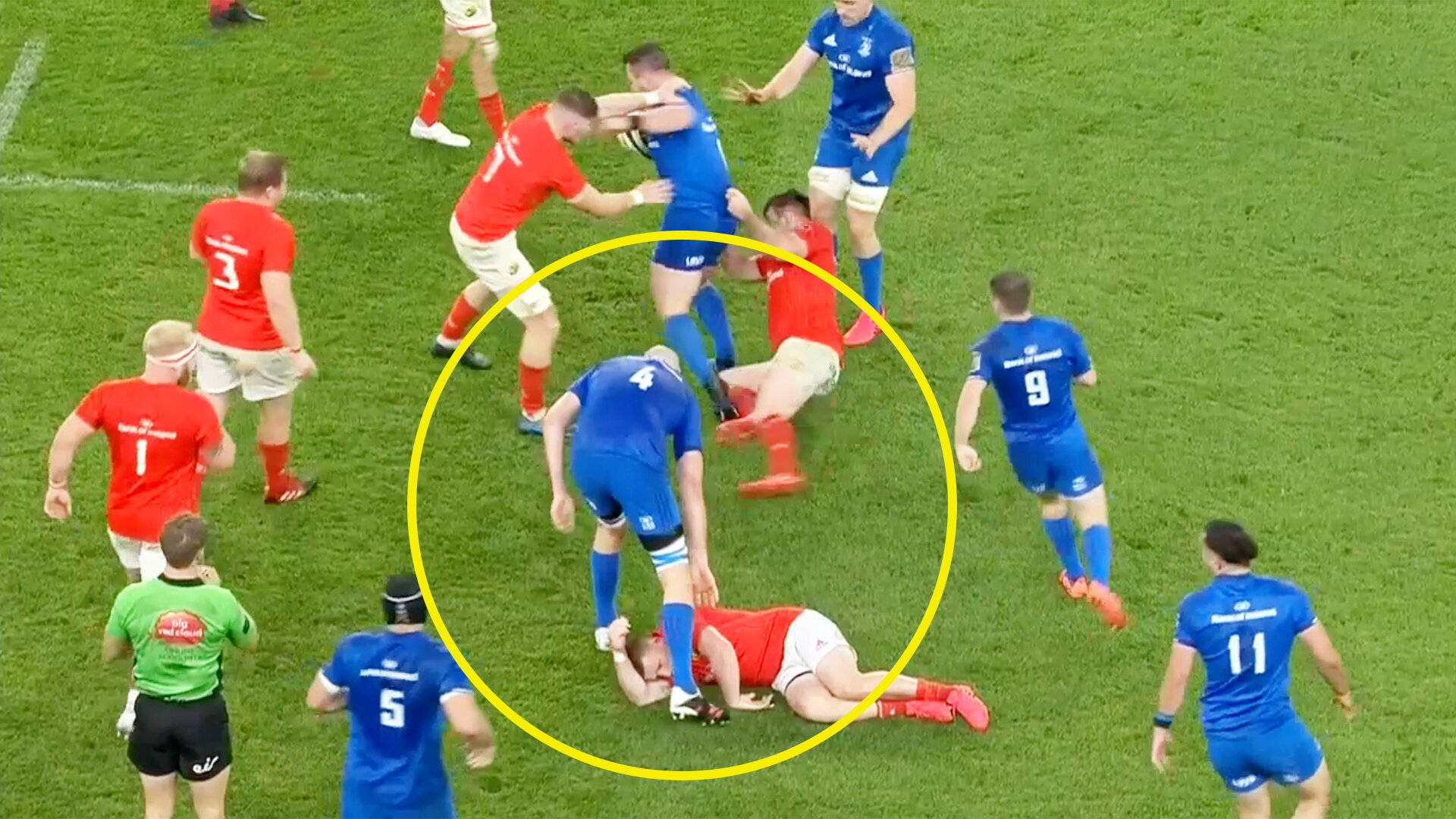 Rugby fans are stunned by this Devin Toner moment in last night's Irish derby clash