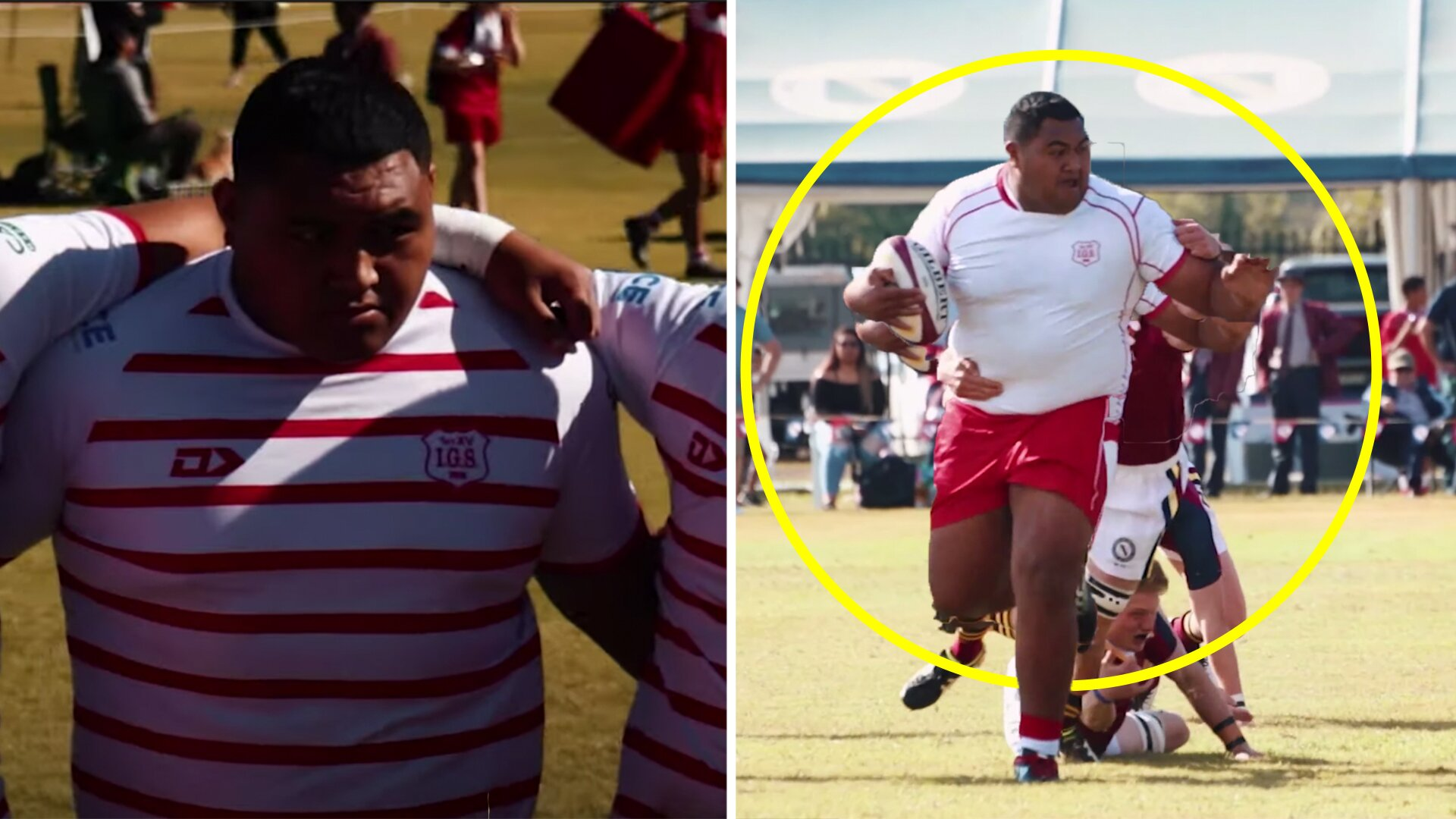 Previously unseen highlight is discovered of monumentally massive 135kg prop
