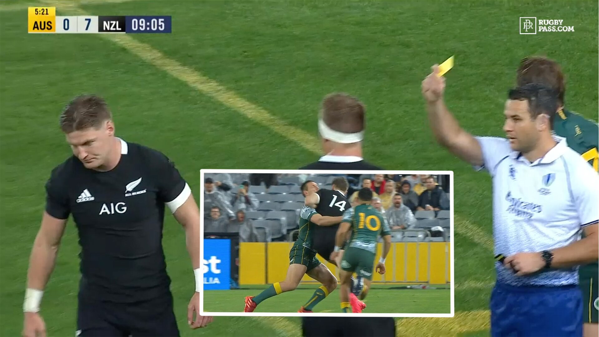Jordie Barrett sent off for sickening 'shoulder charge' which clearly shows his elbow