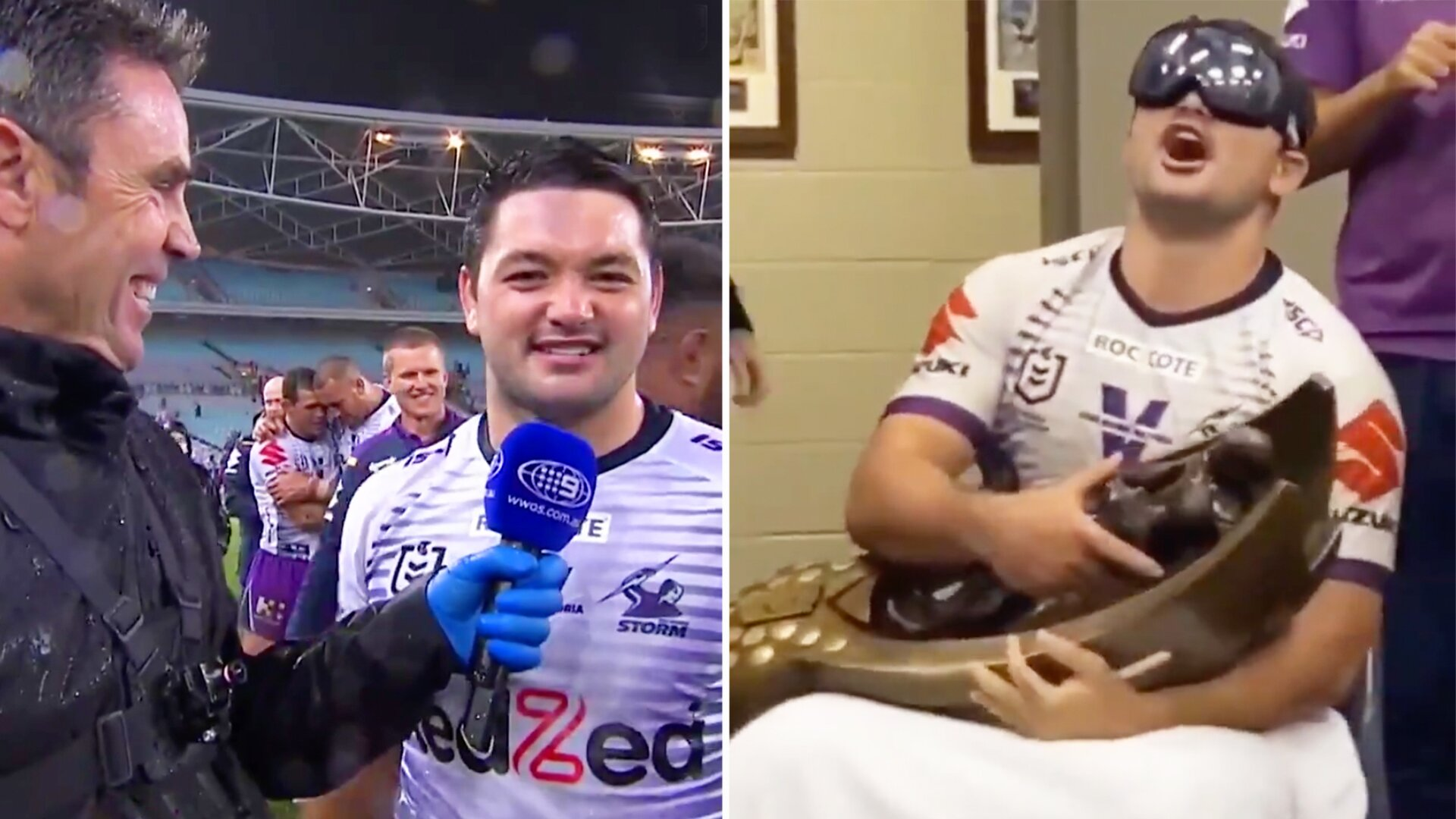 NRL star shocks home viewers in no holds barred interview after Grand Final win