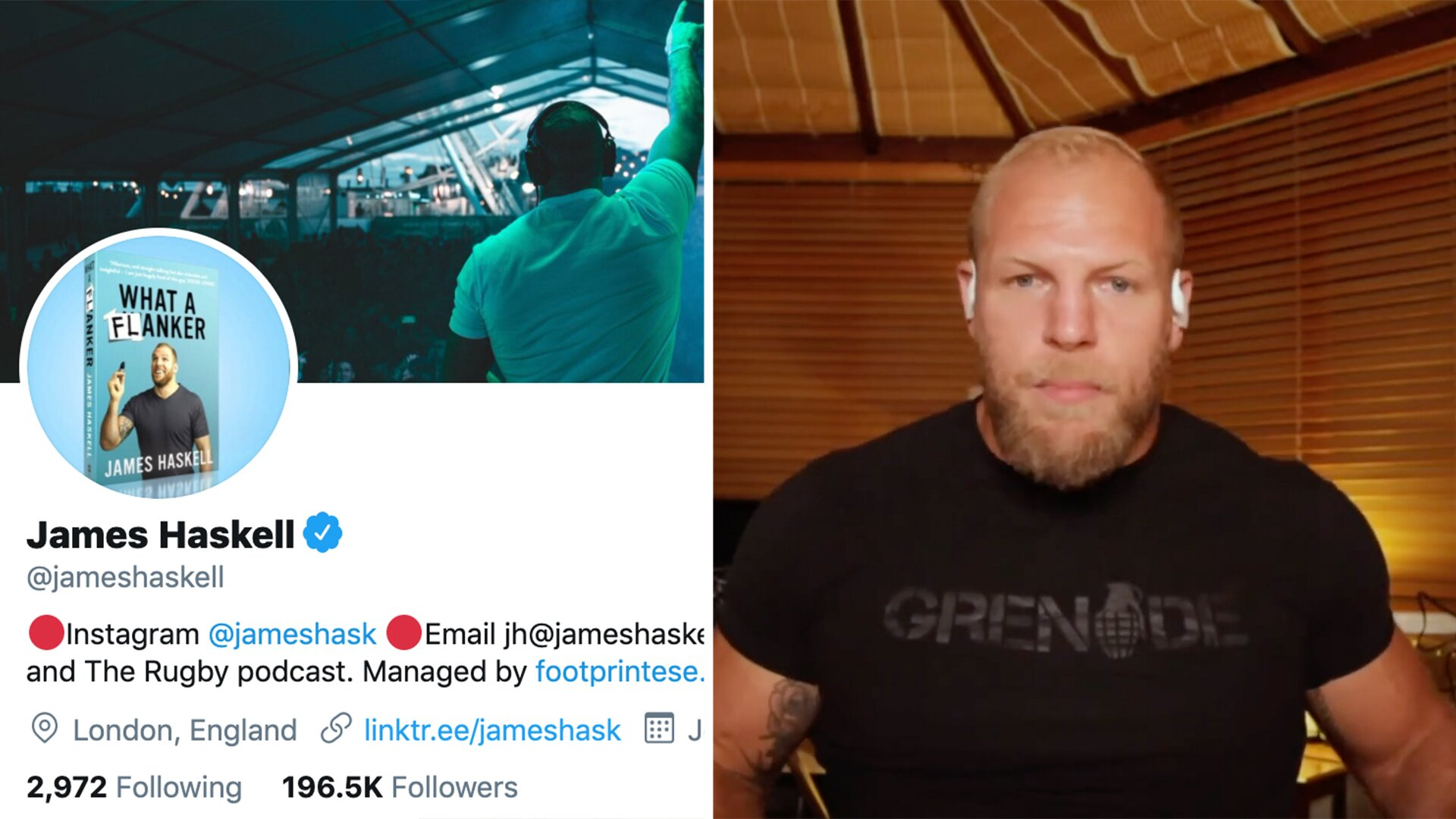 James Haskell has suggested an innovative new way to counter online trolls in sport