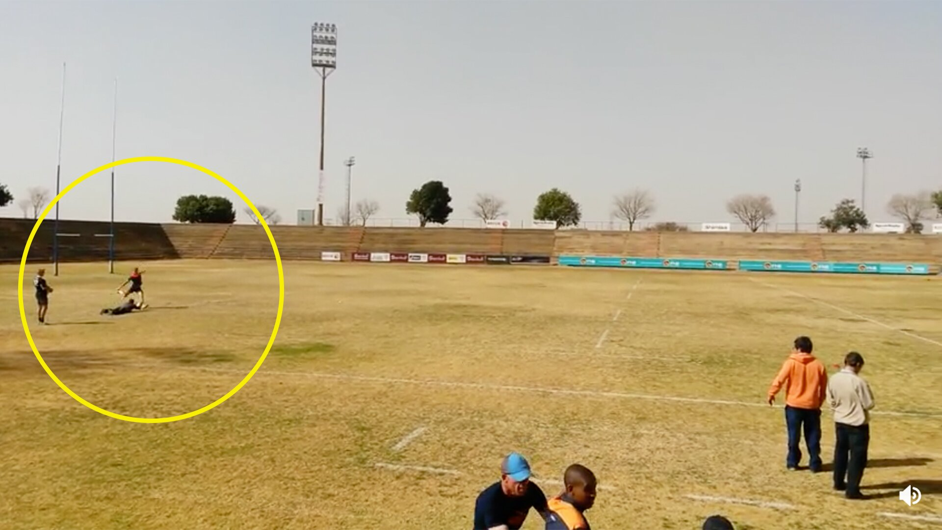 Efforts to track down teen sensation who's just nailed the longest kick of all time