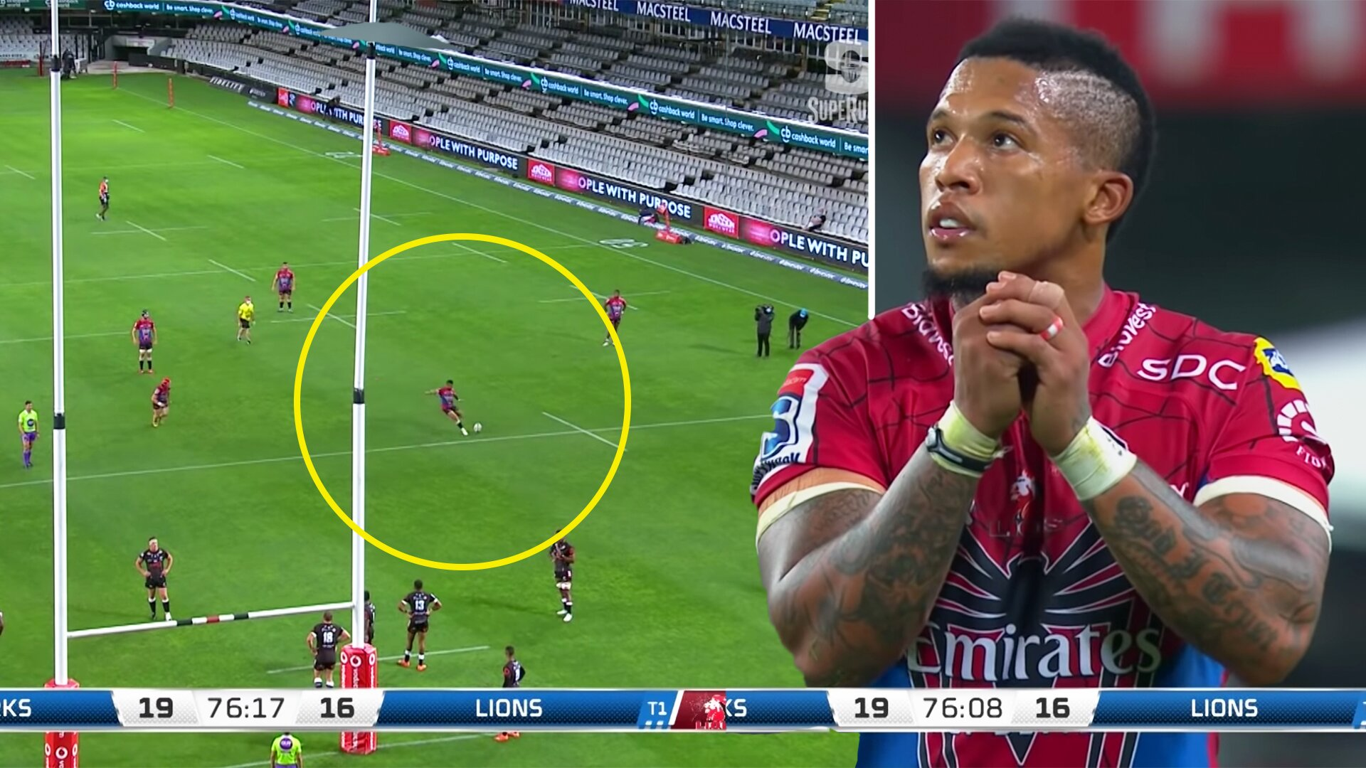 Fans are bewildered by awful Elton Jantjies penalty miss in last night's Super Rugby showdown