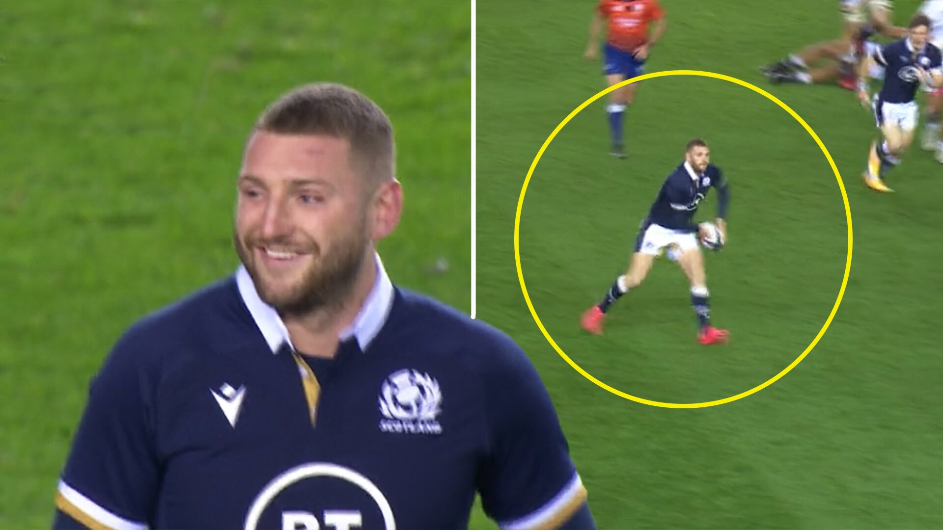 Finn Russell comes on for just twenty minutes and single handedly dismantles sorry Georgia