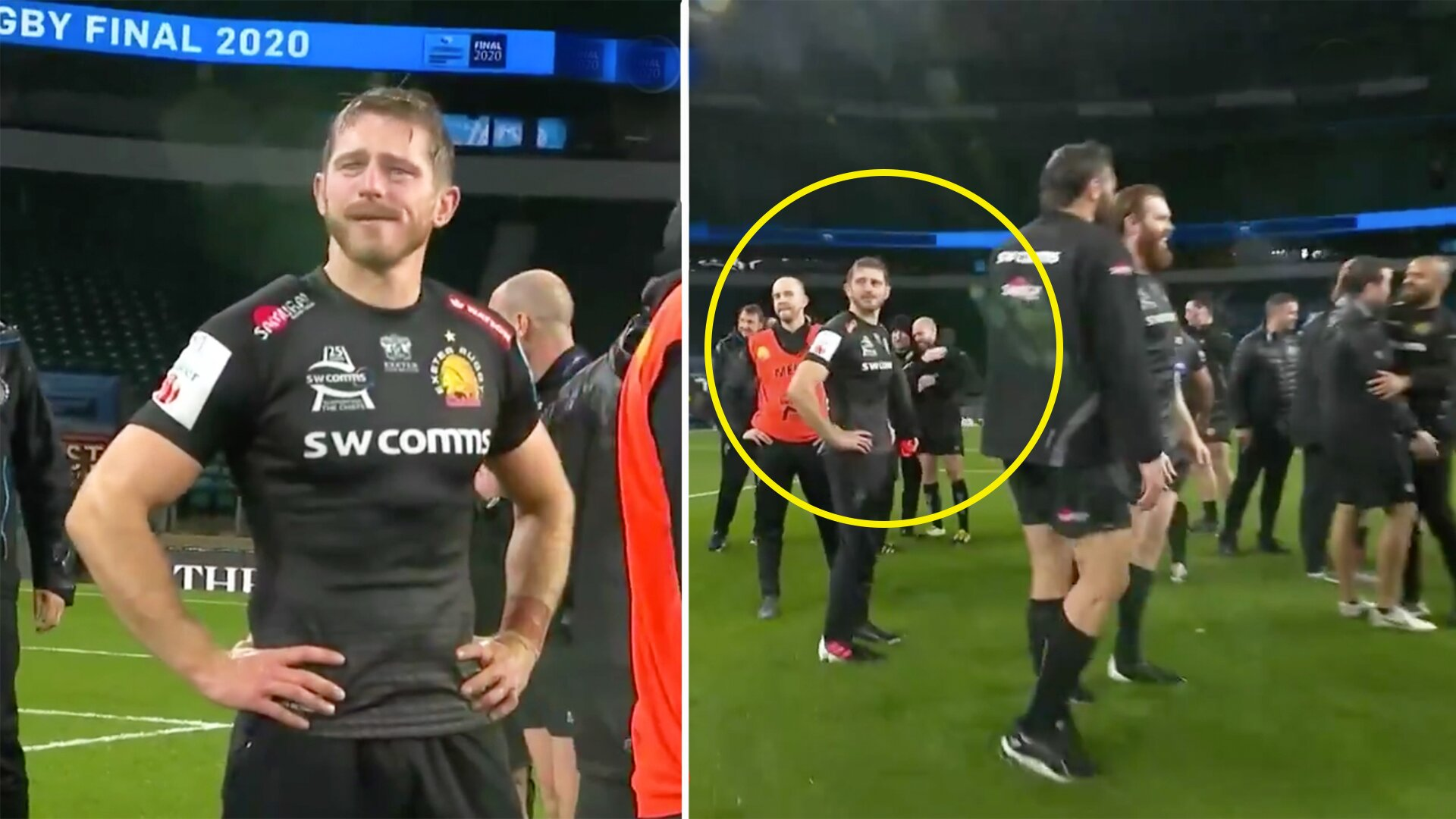 Harrowing footage emerges of Exeter legend Gareth Steenson in aftermath of Premiership triumph