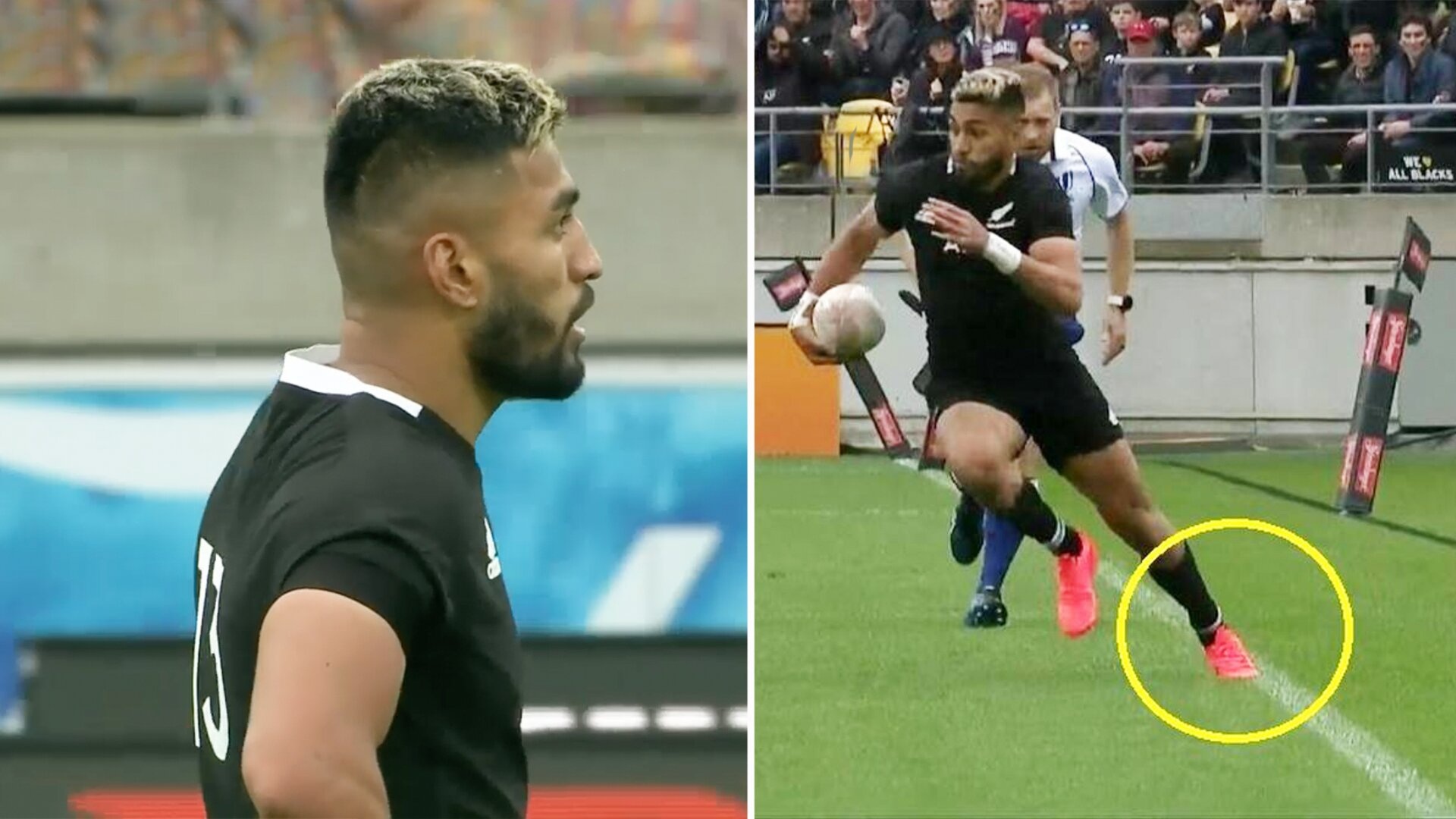 Calls for Rieko Ioane to receive lengthy ban after not admitting to blatant foot in touch