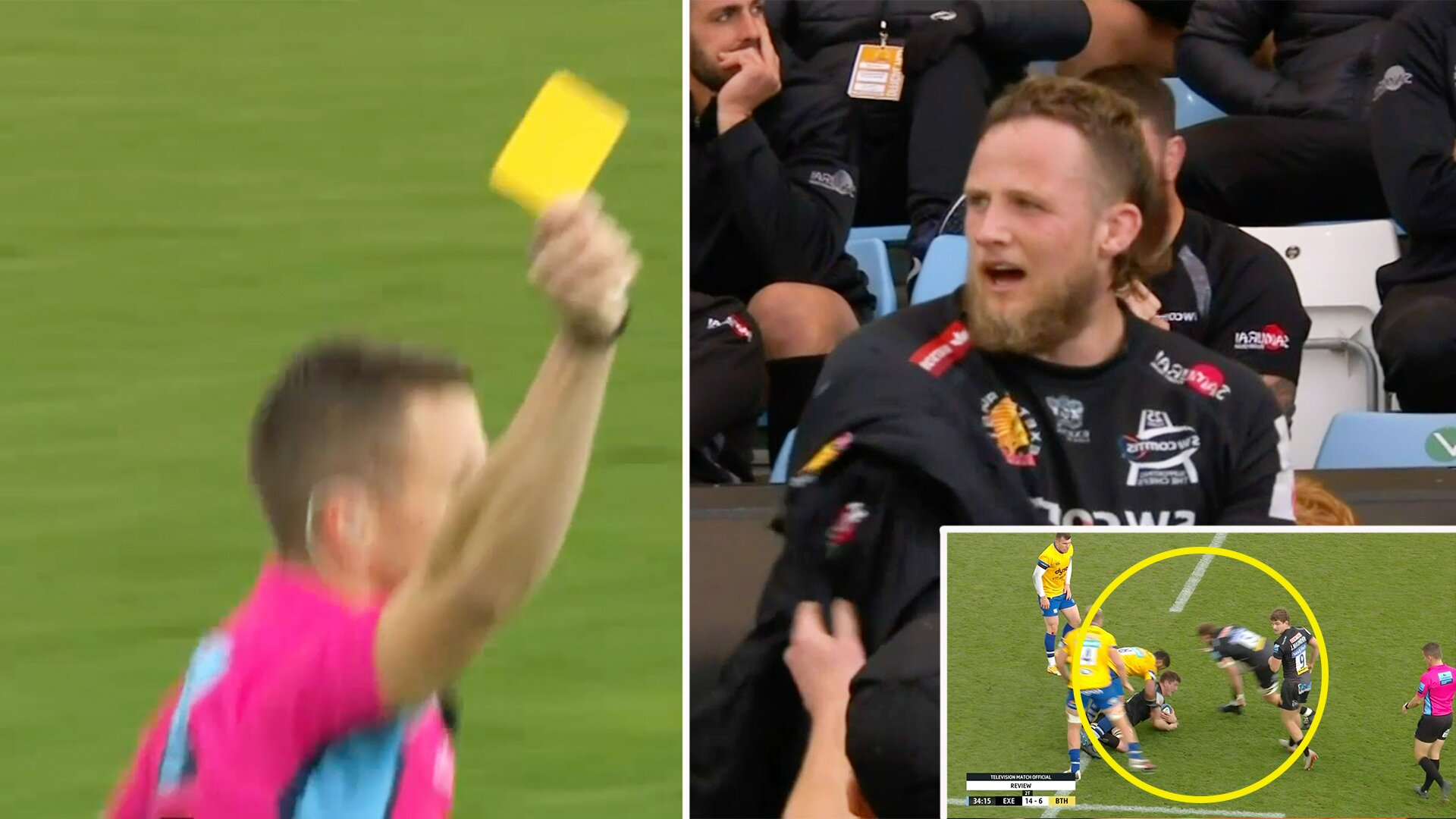 Jonny Hill avoids red card for sickening challenge in today's Premiership showdown